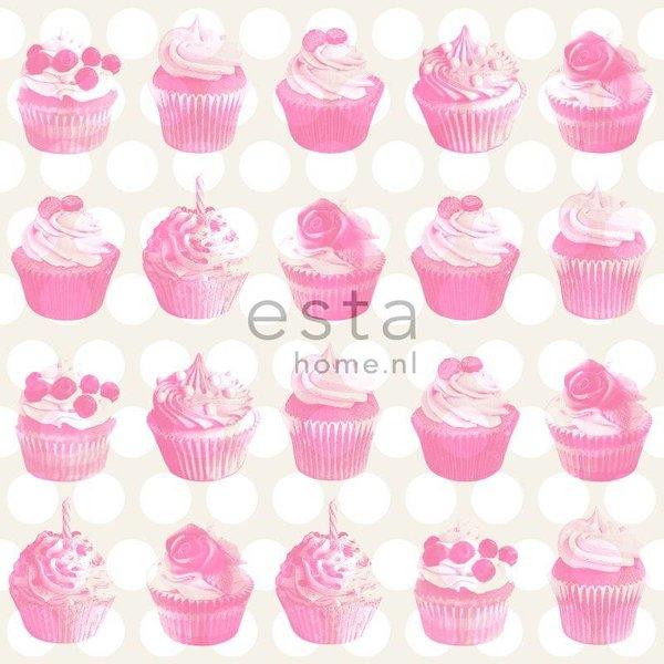 Everybody Bonjour Cupcake roze