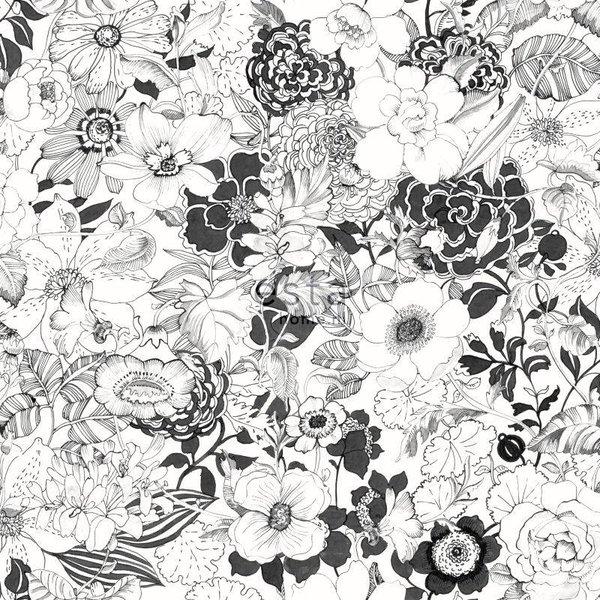 Brooklyn Bridge Bloemen Zwart/wit