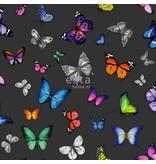 Esta Home Brooklyn Bridge Vlinders kleurrijk op zwart 138508