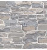 Esta Home Brooklyn Bridge Stenen muur lichtgrijs/beige 138518