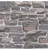 Esta Home Brooklyn Bridge Stenen muur blauw/grijs 138519