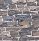 Esta Home Brooklyn Bridge Stenen muur blauw/bruin 138520