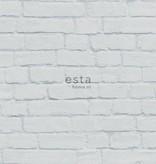 Esta Home Brooklyn Bridge Bakstenen muur licht grijs 138534