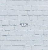 Esta Home Brooklyn Bridge Bakstenen muur licht blauw 138536