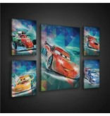 Dutch Wallcoverings Canvas set Disney Cars 1808S14