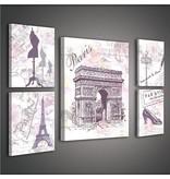 Dutch Wallcoverings Canvas set Parijs 1810S14