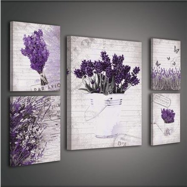 Canvas set Bloemen 1809S14