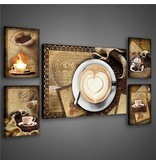 Dutch Wallcoverings Canvas set London koffie 2041S14