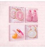 Dutch Wallcoverings Canvas set Baby meisje 2088S20