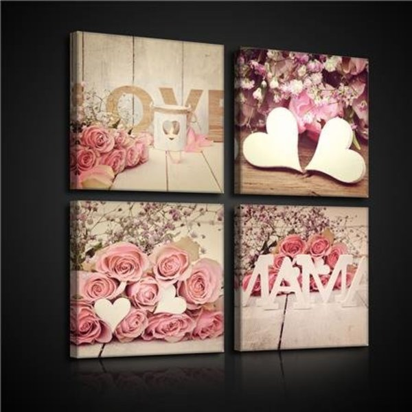 Dutch Wallcoverings Canvas set Love Mama 2572S20