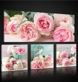 Dutch Wallcoverings Canvas set Roze Rozen 2576S20
