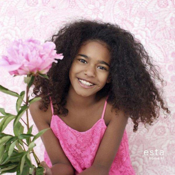 Cabana Handgeschilderde bloemen roze