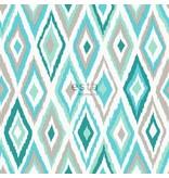 Esta Home Cabana Azteken print turquoise/bruin 148629