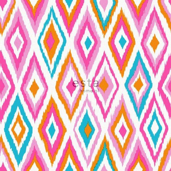 Esta Home Cabana Azteken print roze/oranje 148631