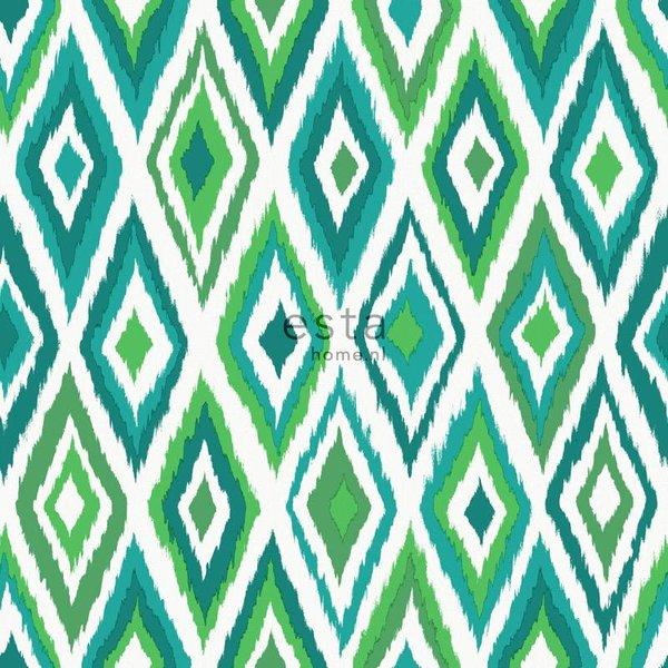 Esta Home Cabana Azteken print groen 148632