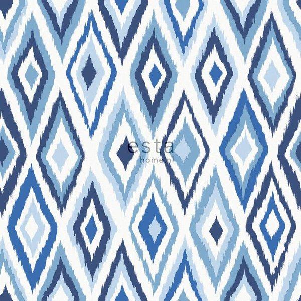 Esta Home Cabana Azteken print blauw 148634