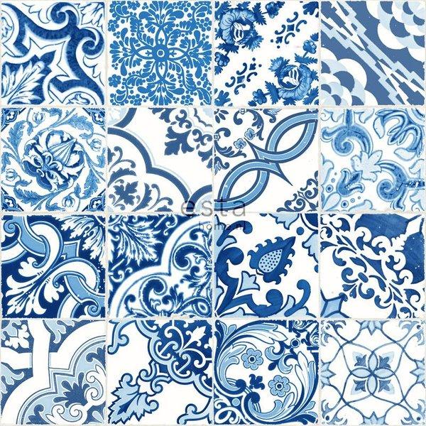 Cabana Tegeltjes print blauw