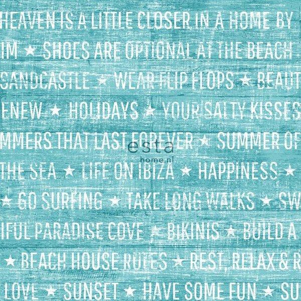 Esta Home Cabana Summer quotes turquoise 148642