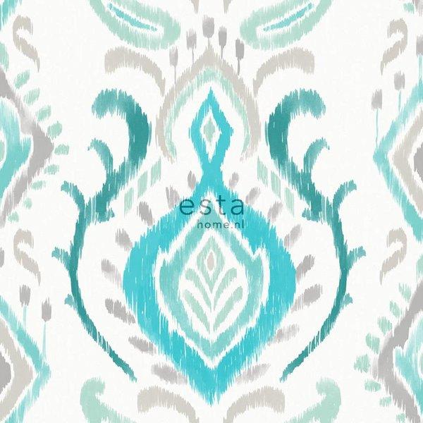 Cabana Barok print turquoise