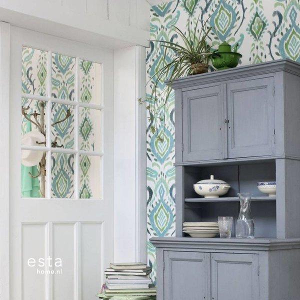 Esta Home Cabana Barok print groen 148647