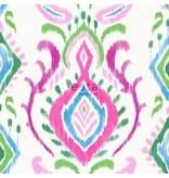 Esta Home Cabana Barok print groen/roze 148648