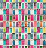 Esta Home Cabana Wallpaper XXL Colourful doors 158607