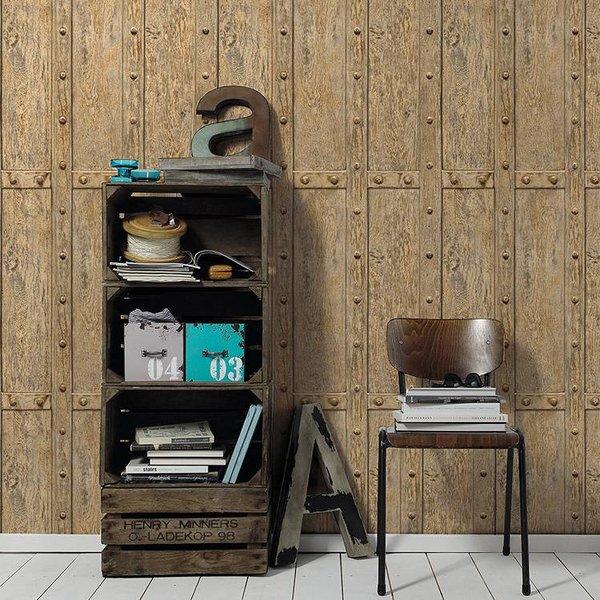 Decoworld 2 Hout panelen licht bruin
