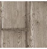 A.S. Creation Decoworld 2 Houten balken bruin/grijs 30749-3