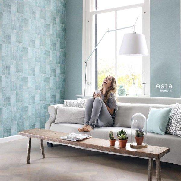 Esta Home Marrakech patchwork kelim aqua groen