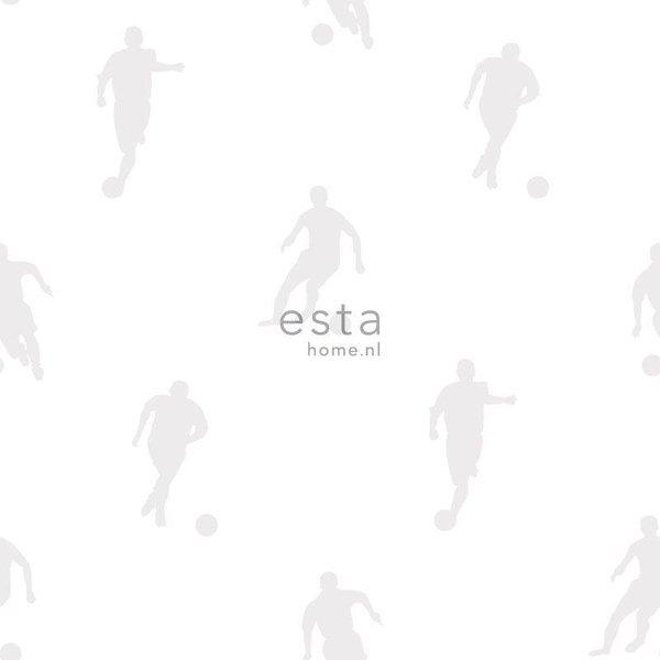 Esta for Kids College Voetbalspelers zilver op wit 128802