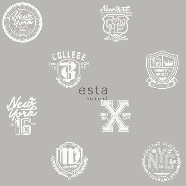 College School emblemen taupe