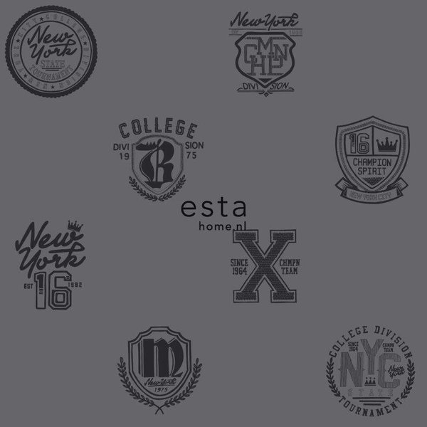 College School emblemen donkergrijs