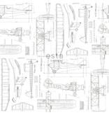 Esta for Kids College Constructietekening vliegtuig wit 128812