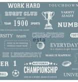 Esta for Kids College Sport quotes vintage blauw 128814