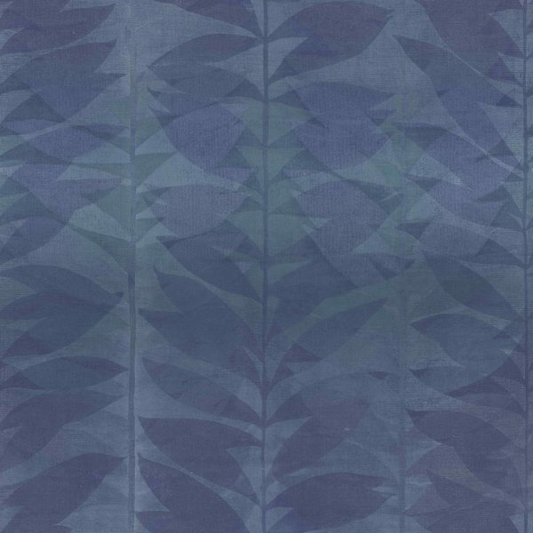 Dutch Wallcoverings Bontanical Blad blauw BA2110