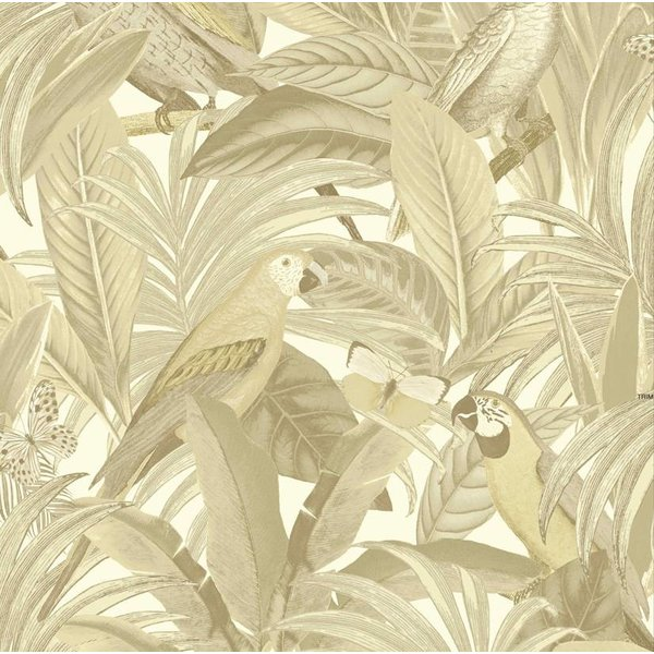 Dutch Wallcoverings Botanical Papegaai beige