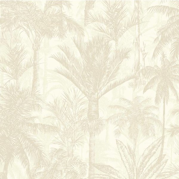 Dutch Wallcoverings Botanical Palmbomen beige/wit