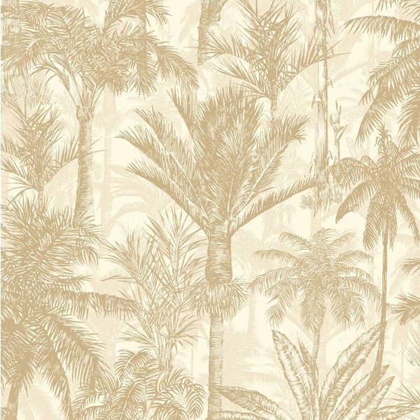 Dutch Wallcoverings Botanical Palmbomen beige/creme