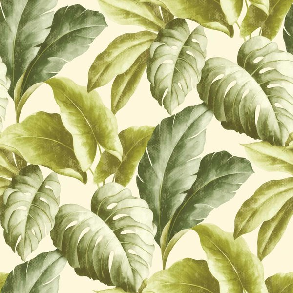 Dutch Wallcoverings Botanical Bladeren groen/wit