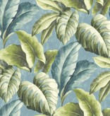 Dutch Wallcoverings Bontanical Bladeren groen/blauw BA2403