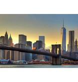 Dutch Wallcoverings Wizard & Genius fotobehang Brooklyn bridge sunset 00148