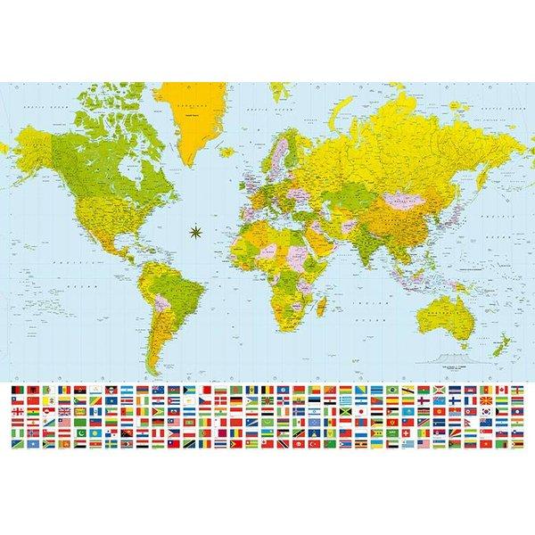 Dutch Wallcoverings Wizard & Genius fotobehang World Map 00280