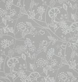 Voca Hej bloemen licht grijs 218170