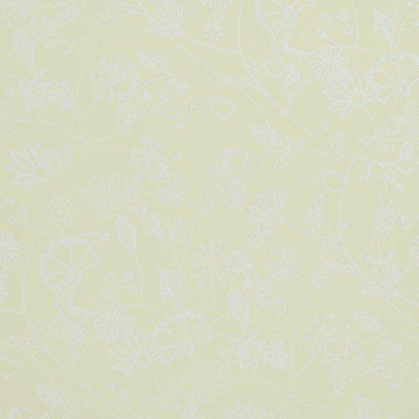 Voca Hej bloemen lime/geel