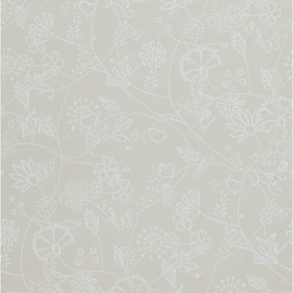 Voca Hej bloemen beige 218176