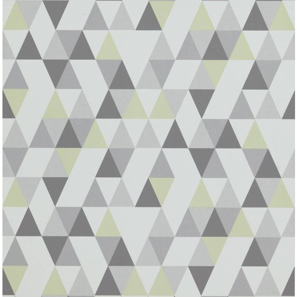 Hej driehoekjes lime groen/grijs