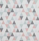 Voca Hej driehoekjes roze/blauw/grijs 218183