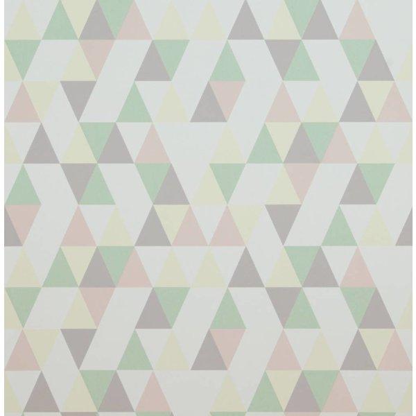 Voca Hej driehoekjes groen/grijs/geel/roze