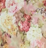 Voca Sweet Dreams Geborduurde bloemen rood/oranje/groen 218221