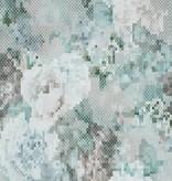 Voca Sweet Dreams Geborduurde bloemen blauw/groen/grijs 218222